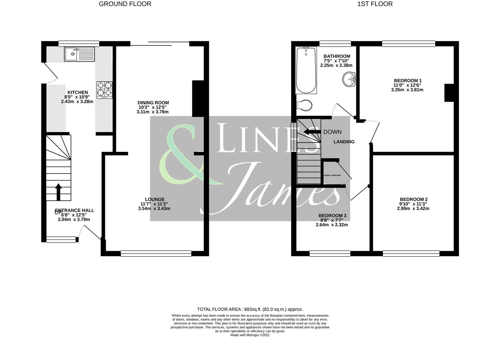 Floorplan for Ingram Close, Horsham